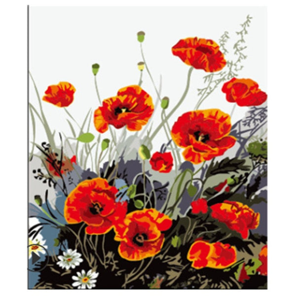 Paint By Numbers - Red Poppies - I Found it On Sale!