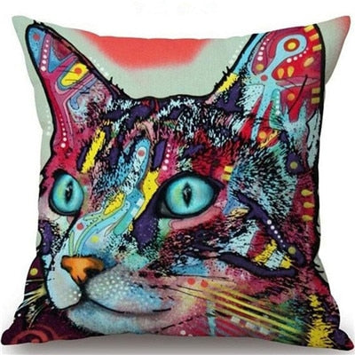 Throw Pillow Cover - Abstract Cat - I Found it On Sale!