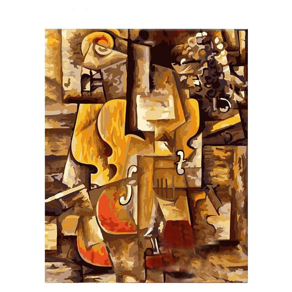 Pablo Picasso Painting By Numbers - Violin and Grapes