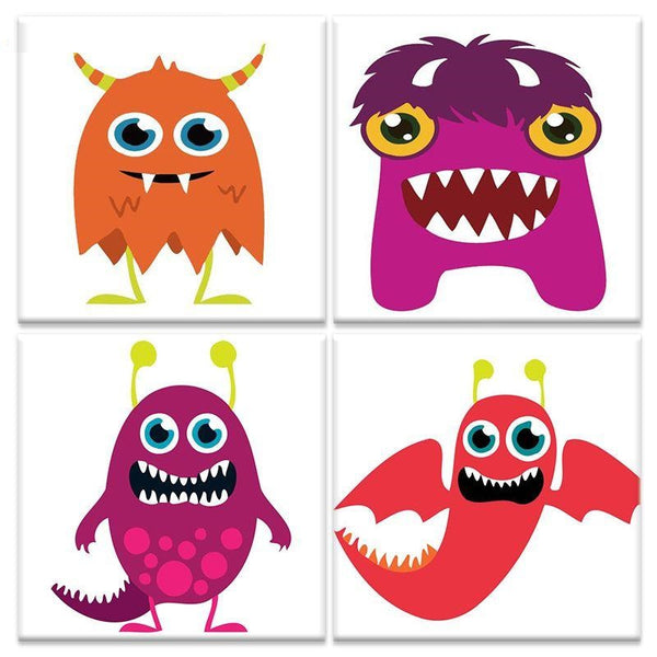 Cartoon Monsters DIY Painting By Numbers Kits For Kids
