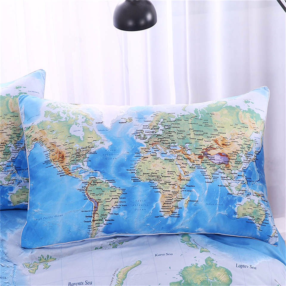 World map duvet cover bedding set 3 pieces twin full queen king world map duvet cover bedding set 3 pieces twin full queen king gumiabroncs Choice Image