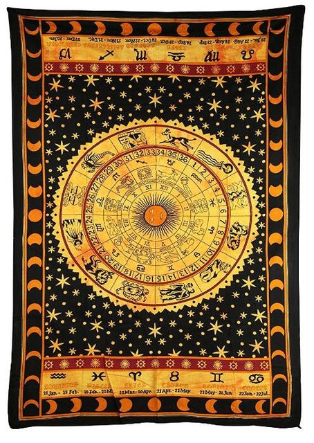 Large Bright Colorful Indian Mandala Tapestry - 3 Styles - Hippie ...