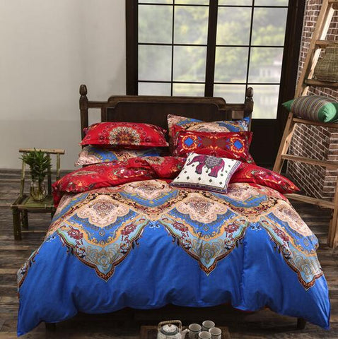 Bohemian Style Colorful Duvet Cover Bedding Set - 4 Pieces Twin, Full, Queen, King - I Found it On Sale!