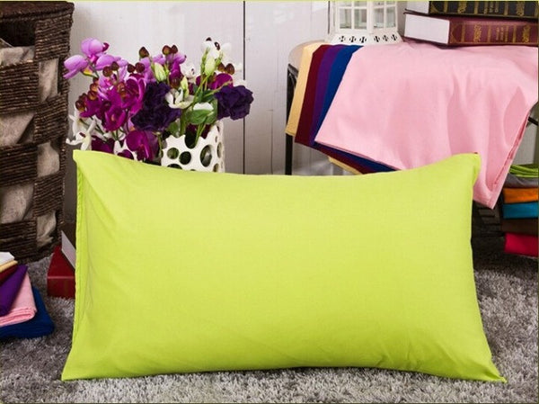 Large Solid Pillowcases in 12 Vivid Colors - 45x72cm - I Found it On Sale!