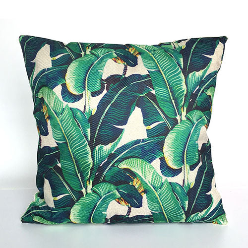 Jungle Tropical Leaves Throw Pillow Cover 40 Styles Available I Awesome Tropical Throw Pillow Covers