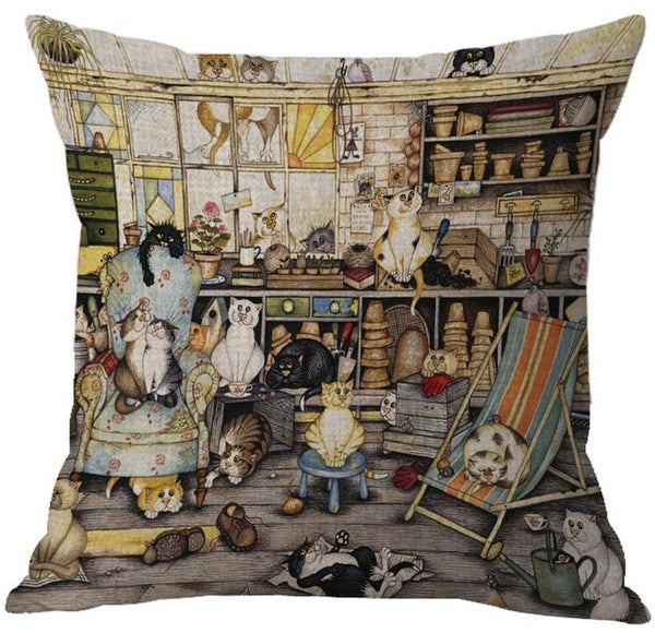 Cat Lovers - Detailed Cushion Throw Pillow Covers - 22 Styles - I Found it On Sale!