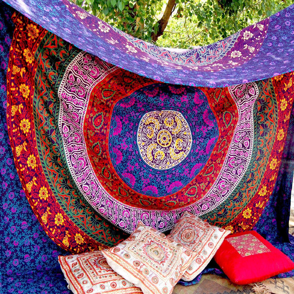 Large Colorful Mandala Tapestry Sunscreen - Wall Art - Bedspread - I Found it On Sale!
