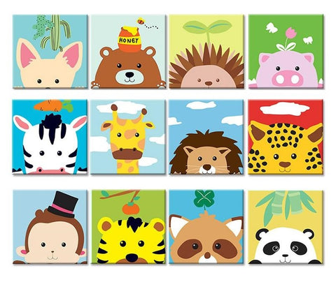 Cartoon Animals DIY Painting by Numbers Kits for Kids - Collection 2