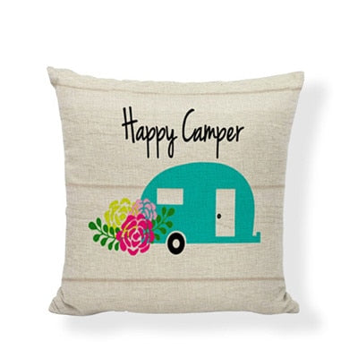 Throw Pillow Cover - Happy Camper 14 - I Found it On Sale!