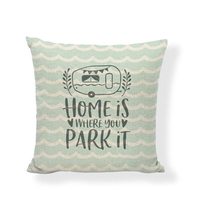 Throw Pillow Cover - Happy Camper 13 - I Found it On Sale!