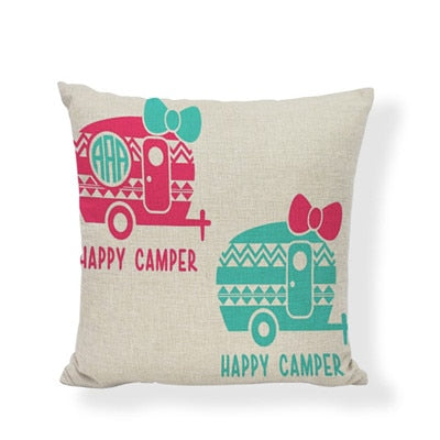 Throw Pillow Cover - Happy Camper 12 - I Found it On Sale!