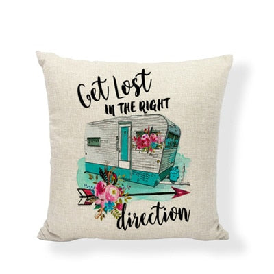 Throw Pillow Cover - Happy Camper 11 - I Found it On Sale!