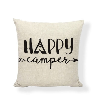 Throw Pillow Cover - Happy Camper 10 - I Found it On Sale!