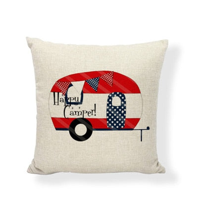 Throw Pillow Cover - Happy Camper 9 - I Found it On Sale!