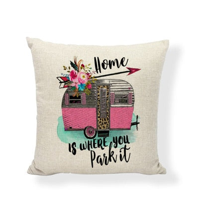 Throw Pillow Cover - Happy Camper 8 - I Found it On Sale!