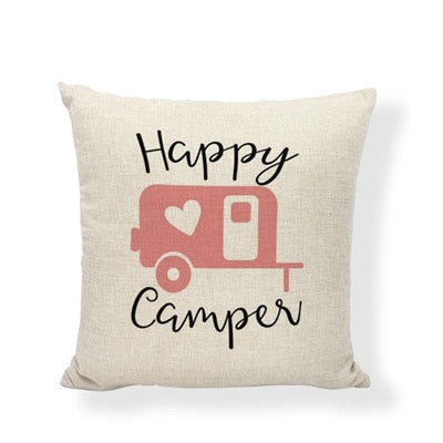 Throw Pillow Cover - Happy Camper 2 - I Found it On Sale!