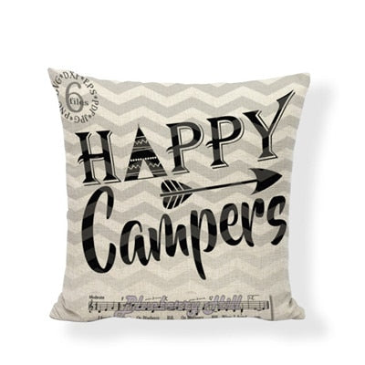 Throw Pillow Cover - Happy Camper 3 - I Found it On Sale!