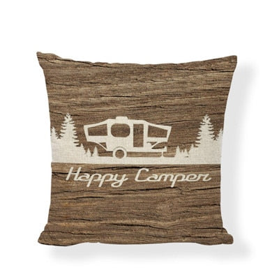 Throw Pillow Cover - Happy Camper 1 - I Found it On Sale!