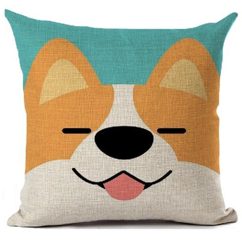 Corgi Dog Printed Decorative Square Throw Pillows  45x45cm