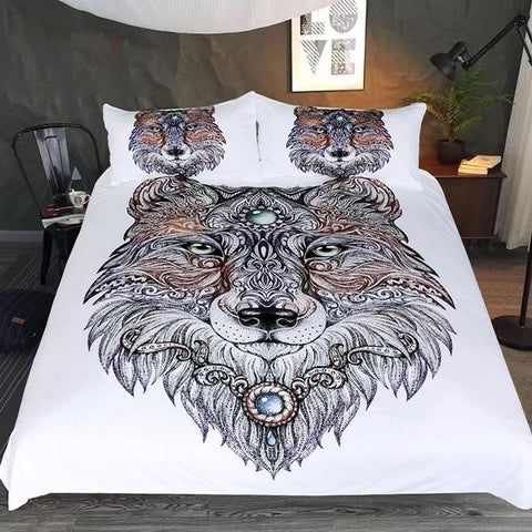 Spirit Wolf Duvet Cover Bedding Set - 3 Pieces Twin, Full, Queen, King - I Found it On Sale!