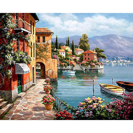 Villa Marina - DIY Paint By Numbers For Adults Kit, 40x50cm Canvas - I Found it On Sale!