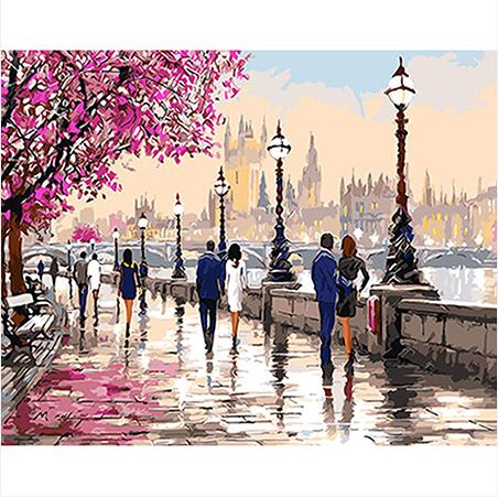 Springtime River Stroll  - Paint By Numbers For Adults Kit, 40x50cm Canvas, Frameless - I Found it On Sale!