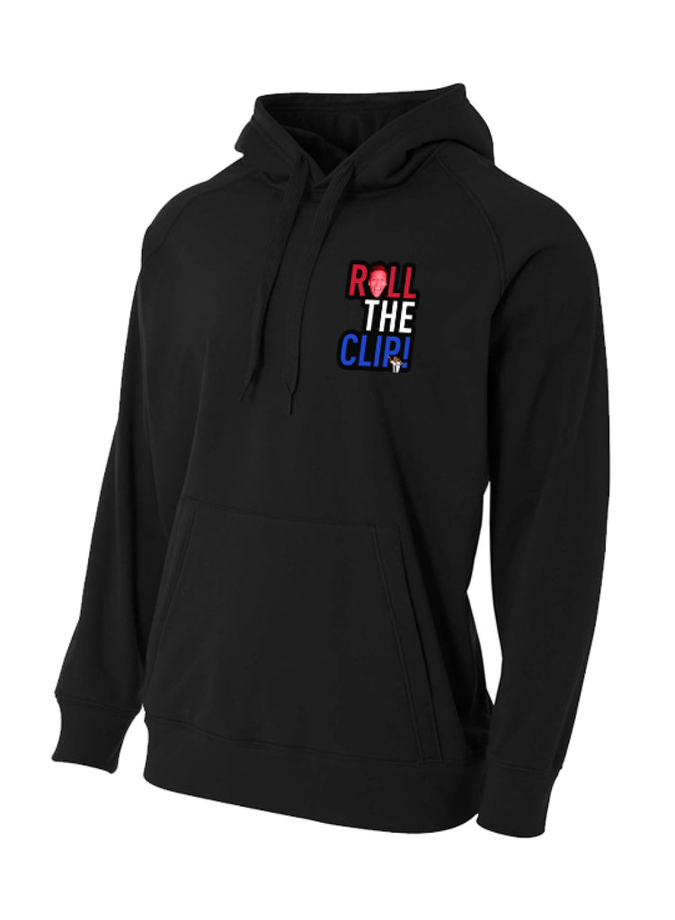 Roll The Clip Black Hoodie