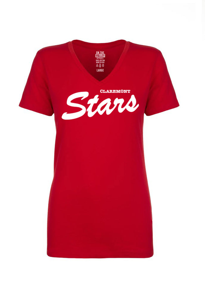 Claremont Stars - Womens V-Neck Tee