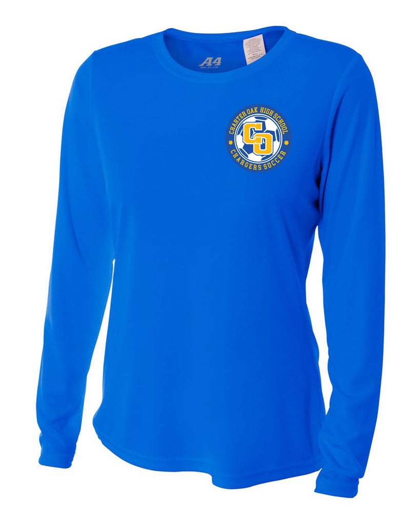 Charter Oak Chargers - Womens L/S Training Tee