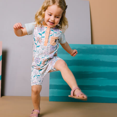 Rags Girls Romper - Kids Clothes with Afterpay Option - Buy Now Pay Later