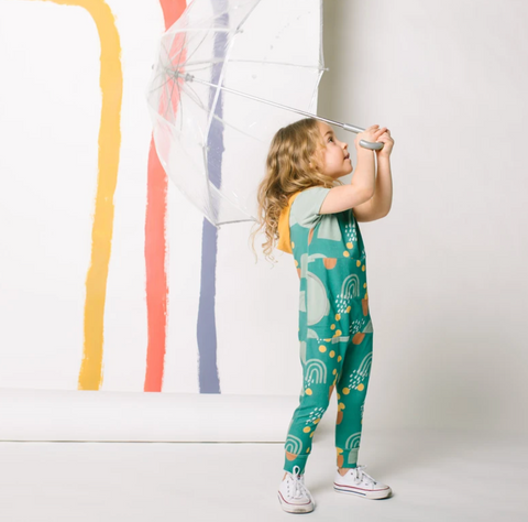 Abstract Shapes Kids Romper
