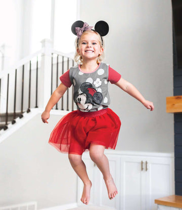 Kid's OG Style Tee - '$21 at Checkout' - 'Flower Minnie' - Pewter