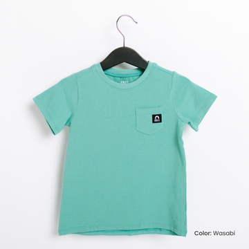 Essentials Short Sleeve Chest Pocket Kids Tee  - 'Kids Tee in Multiple Colors' - Summer 2021