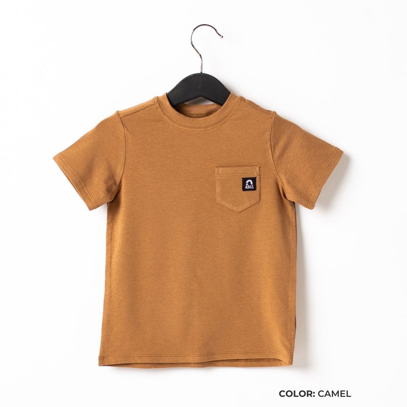 Short Sleeve Chest Pocket Kids Essentials Tee  - 'Kids Tee in Core Colors'