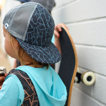 Kids Hat - 'Skateboard Jungle' - George Hats Collab