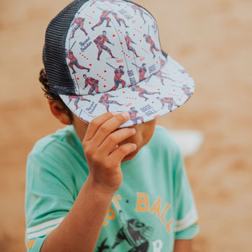Kids Hat - 'Baseball Players' - Navy George Hats Collab