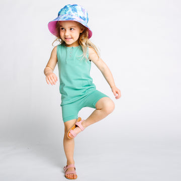 Essentials Tank or Short Sleeve Henley Rag Romper - 'Rag in Multiple Colors' - Summer 2021