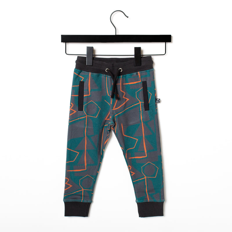 Kids Welt Pocket Joggers - 'Abstract Shapes' - June Bug