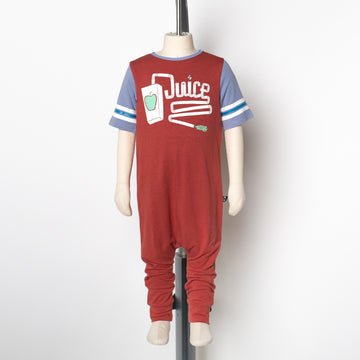 Retro Short Sleeve Rag Romper - 'Juice Box' - Tandori Spice