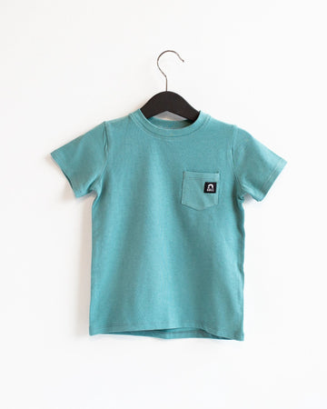 Short Sleeve Chest Pocket Kids Essentials Tee - 'Bristol Blue'