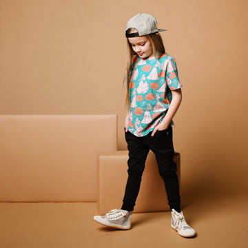 Short Sleeve Kids Tee - 'Aurora Floral' - Disney Collection from RAGS