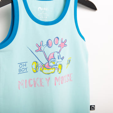 Kids Tank - 'Lightning Mickey' - Iced Aqua - Disney Collection from RAGS