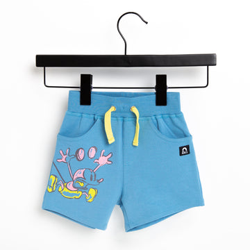 Kids Shorts - 'Lightning Mickey' - Heritage Blue - Disney Collection from RAGS