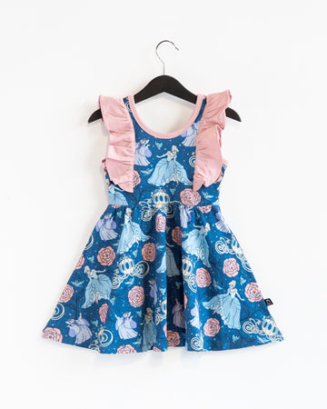 **PREORDER Tank Ruffle Swing Dress - 'Cinderella Floral' - Disney Collection from RAGS