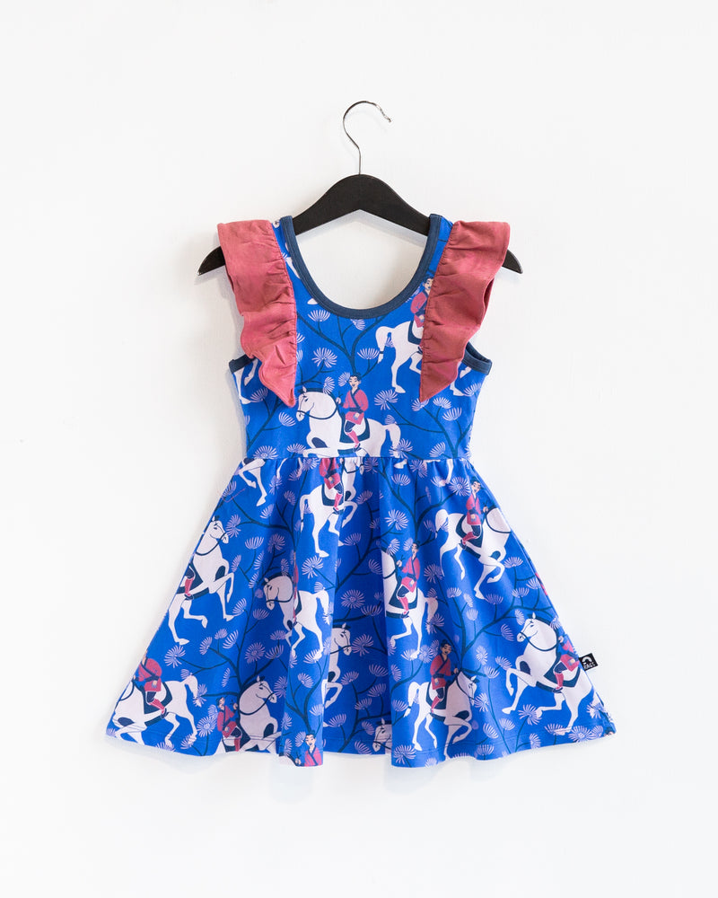 Tank Ruffle Swing Dress - 'Mulan Floral' - Disney Collection from RAGS