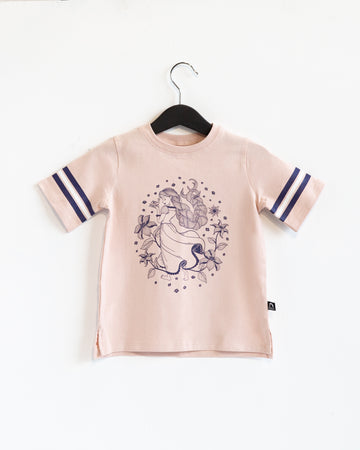 Retro Sleeve Kids Tee - 'Tangled' - Disney Collection from RAGS