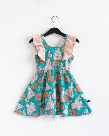 Tank Ruffle Swing Dress - 'Aurora Floral' - Disney Collection from RAGS