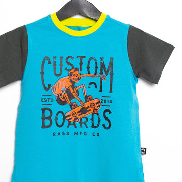 Short Sleeve Tee - 'Custom Boards' - George Hats Collab