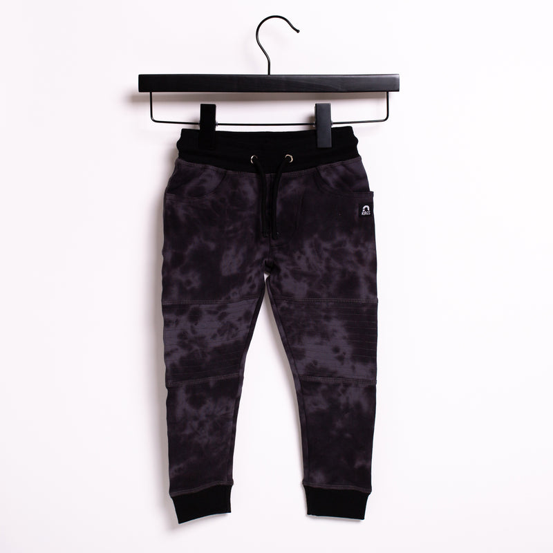 Kids Moto Joggers - 'Tie Dye' -  Black Beauty & Obsidian