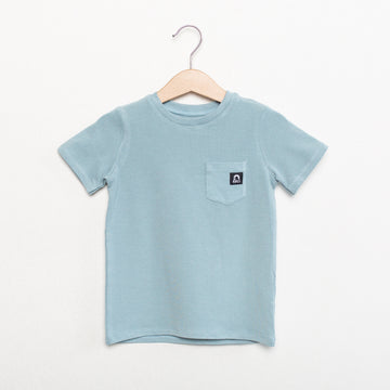 Short Sleeve Kids Essentials Tee - 'Icy Blue'